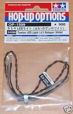 Tamiya 54599 LED Luz Halógena Blanco (3mm) (Uso con TLU-01 & TLU-02), nuevo en paquete