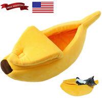 Banana Shape Pets Dog Cat Sleeping Bed House Mat Kennel Doggy Puppy Cushion Sofa