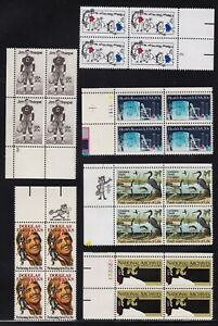 1984 United States 20 Cent Stamps in Blocks of 4 Marginal 5 Pages MNH