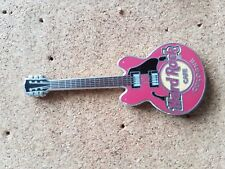 Hard Rock Cafe Pin COLOGNE Core Guitar Dark Pink 4 String