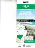 Cowan 9130-4-N NSW 1:25,000 LPI topographic map New, free airmail worldwide