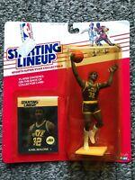Vintage Super Rare 1988 Kenner Starting Lineup NBA HOF Utah Jazz Karl Malone MIP