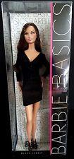 Barbie Basics Collection 001 Model 02 Doll Black Dress Black Label Mattel NRFB