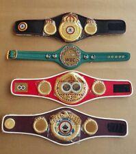 WBC WBO Ibo IBF Mini Belt Championships Boxing Replica Set of 4 Pcs Belts