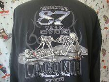 Laconia Motorcycle Week 2010 T Shirt Sz 2XL Biker long sleeve