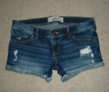 Hollister destroyed holey cut-off cuff low rise shortie jean shorts Size 3 W26