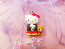 10 Hello Kitty with Dog Charm Pendant Diy Accessories 10 pieces 1w-10 Wholesale