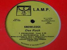 "DEE ROCK KNOWLEDGE - SEXY DEXY 12"" L.A.M.P. RARE RANDOM RAP VINYL SINGLE"