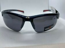 IRONMAN Sun Glasses Perseverance Sport Wrap White Plastic Frame Blk Lens #158