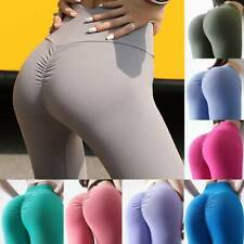 Women Yoga Pants Leggings High Waist Gym Exercise Ruched Sports Workout Trousers