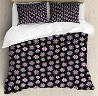 Flower Bloom Duvet Cover Set Twin Queen King Sizes with Pillow Shams