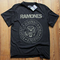Ramones Distressed Crest T Shirt NEW OFFICIAL Seal Hey Ho Lets Go Gabba S M L XL