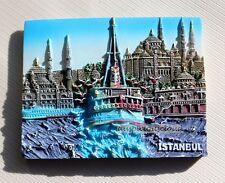 Tourist Souvenir 3D Resin Travel Fridge Magnet --- Istanbul Holy Wisdom , Turkey