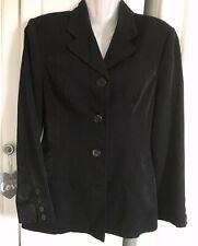 Karen Millen England Black Tailored Jacket Size Uk10 Eu38 Women's Sheen Blazer