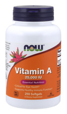 Vitamin A 25,000 IU Now Foods 250 Softgel