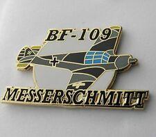 MESSERSCHMITT BF-109 WWII GERMAN FIGHTER AIRCRAFT LAPEL PIN 1.5 inches