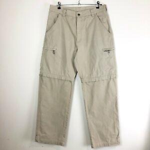 Camel Trophy Adventure Wear Men's Khaki Pants Size XL Removable Legs 100% Cotton