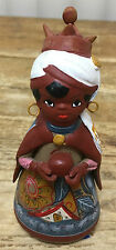 Nativity Creche Mexican Pottery Wise Man A Black Hair Hoop Earrings Mexico Crown