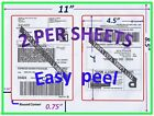 600 Pro Office Shipping Labels-7.0X4.5-Rounded Corner-Blank Labels-Made In USA