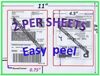 200 Pro Office Shipping Labels-7.0X4.5-Rounded Corner-Blank Labels-Made In USA