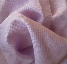 100% Linen Fabric Yarn Dyed 2mm Small Gingham Check Soft Lavender By the Yard