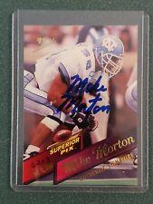 1995 Superior Pix Mike Morton Autographed Card - #6203/6500