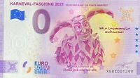 BILLET 0  EURO  KARNEVAL FASHING   ALLEMAGNE 2021  N° DIVERS