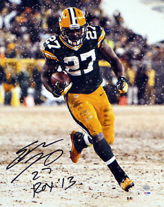 """EDDIE LACY AUTOGRAPHED SIGNED 16X20 PHOTO PACKERS """"ROY '13"""" PSA/DNA 77728"""