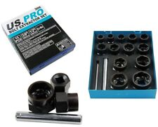 DAMAGED ROUNDED NUT & BOLT REMOVER SOCKET SET by US PRO TOOLS 9 to 27mm easy out