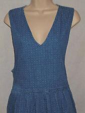 Denim Jumper Dress LARGE Womens 14-16 Mizz Lizz Blue Sleeveless 6r158