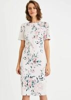Phase Eight Danni Printed Floral Sheath Dress Tea Rose Size UK18 RRP130