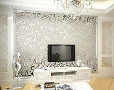 10M 3D Lujoso Europeo Diseño Plata Papel Pintado Pared Vinilo Papel De Papel A++