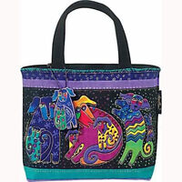 Dogs & Doggies Laurel Burch Small Canvas Tote Handbag