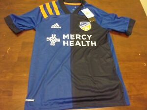 FC Cincinnati NEW youth Adidas Large 13-14 MLS soccer jersey