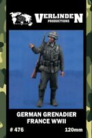 Verlinden 120mm German Grenadier France WWII Resin Figure Model Kit #476