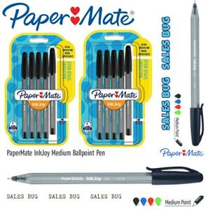 Paper Mate inkjoy Ball point pens black ink x 4 School  New & Sealed