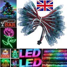 50pcs Addressable WS2811 RGB LED Pixel lamp 12mm String Light IP68 5V  Xmas