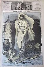 MORT FAUCHEUSE CARICATURE de GILL JOURNAL SATIRIQUE L'ECLIPSE N° 270 de 1873