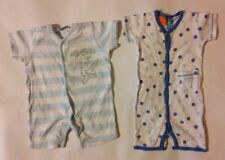 Baby Boys 3-6 Months X2 Disney + Pumpkin Patch Blue + White Bodysuit Baby Grow