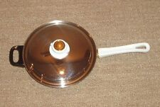 HEALTH CRAFT 5-PLY NICROMIUM SURGICAL STAINLESS STEEL SKILLET / FRY PAN & LID
