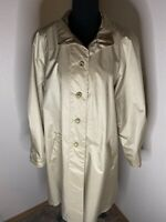 Vintage Chiango Champagne Trench Coat Size 10
