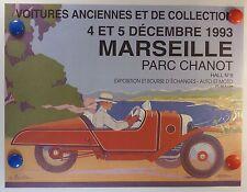 voitures anciennes et de collection à Marseille AFFICHE ORIGINALE/14bPB