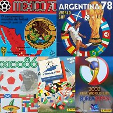 All FIFA World Cup PANINI albums from Mexico 1970 to 2018 -in PDF- Soccer
