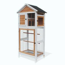 Outdoor Aviary Bird Cage Wooden Vertical Play House Pet Parrot Cage 0012