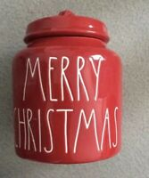 Rae Dunn MERRY CHRISTMAS Red LL 2018 Canister *FREE SHIPPING*