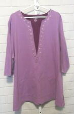 Liz & Me Sport Top 3/4 Sleeves Outlet Size 4X 30/32W NWT Embellished