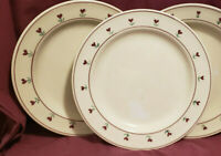"""Two (2) HARTSTONE Pottery - PROVINCIAL POSY Pattern - 11 1/4"""" DINNER PLATES"""
