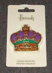 FABULOUS HARRODS LONDON ROYAL CROWN FRIDGE MAGNET HAND PAINTED - BRAND NEW!