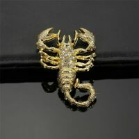 3D Metal Gold Scorpion Car Sticker Truck Auto Decor Badge Emblem Decal Fashion