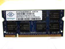 1GB MEMORIA RAM NANYA NT1GT64U8HB0BN-3C 667MHz SODIMM 200 Pin 2Rx8 PC2 5300S